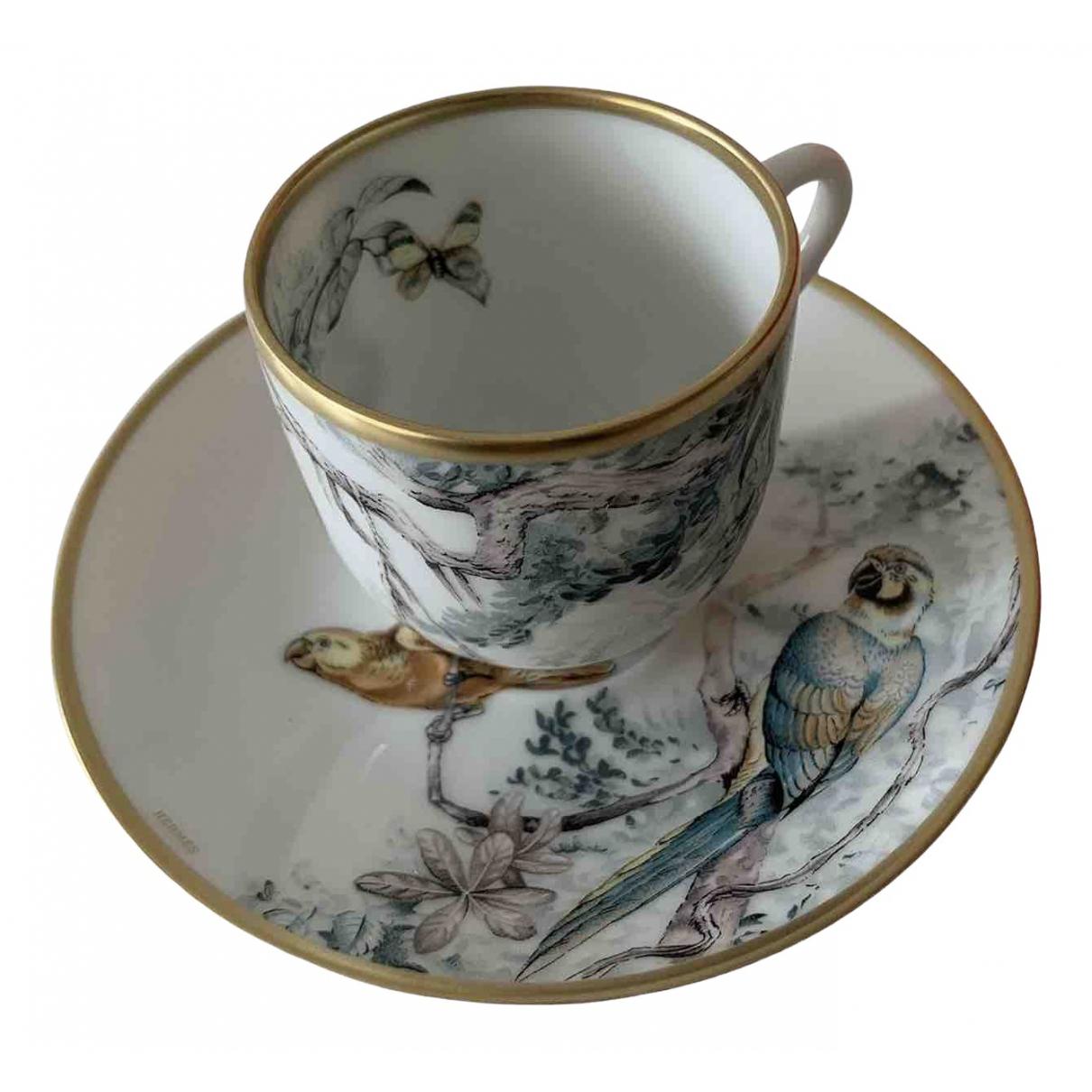 Hermes Carnets dEquateur Tischkultur in  Weiss Porzellan