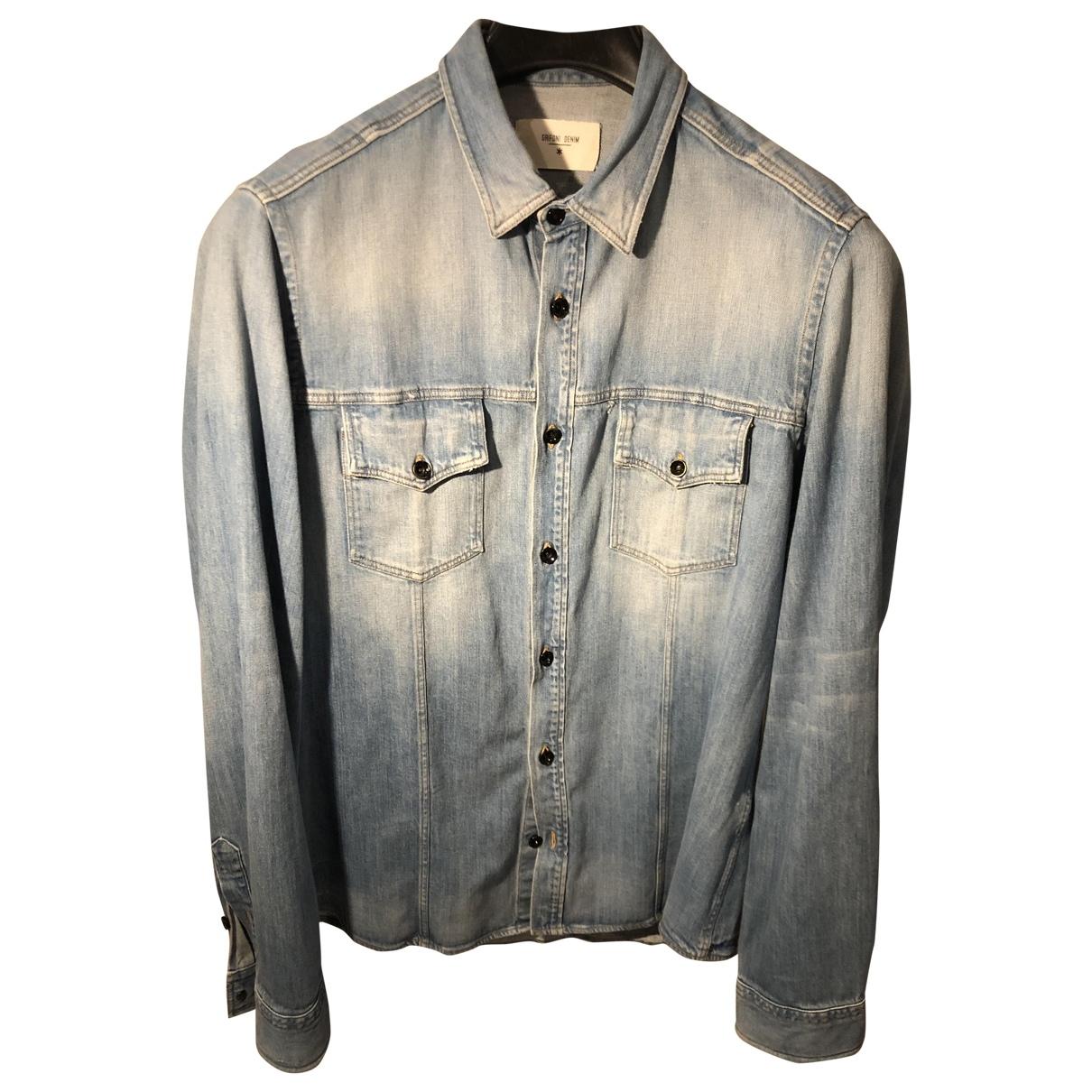 Mauro Grifoni \N Denim - Jeans Shirts for Men XL International