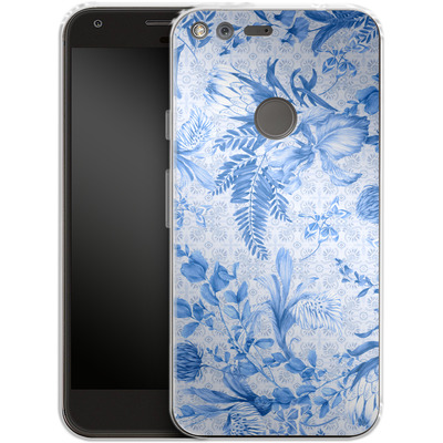 Google Pixel Silikon Handyhuelle - Santorini Breeze von Stephanie Breeze