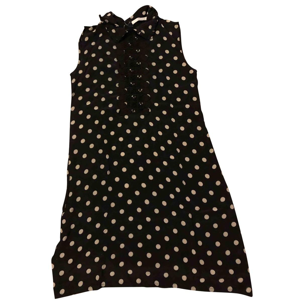 Madame A Paris \N Kleid in  Schwarz Seide