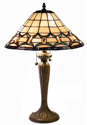 320122 Tiffany-style Jeweled Table Lamp in