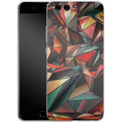 Huawei P10 Silikon Handyhuelle - Dirty Triangles von Danny Ivan