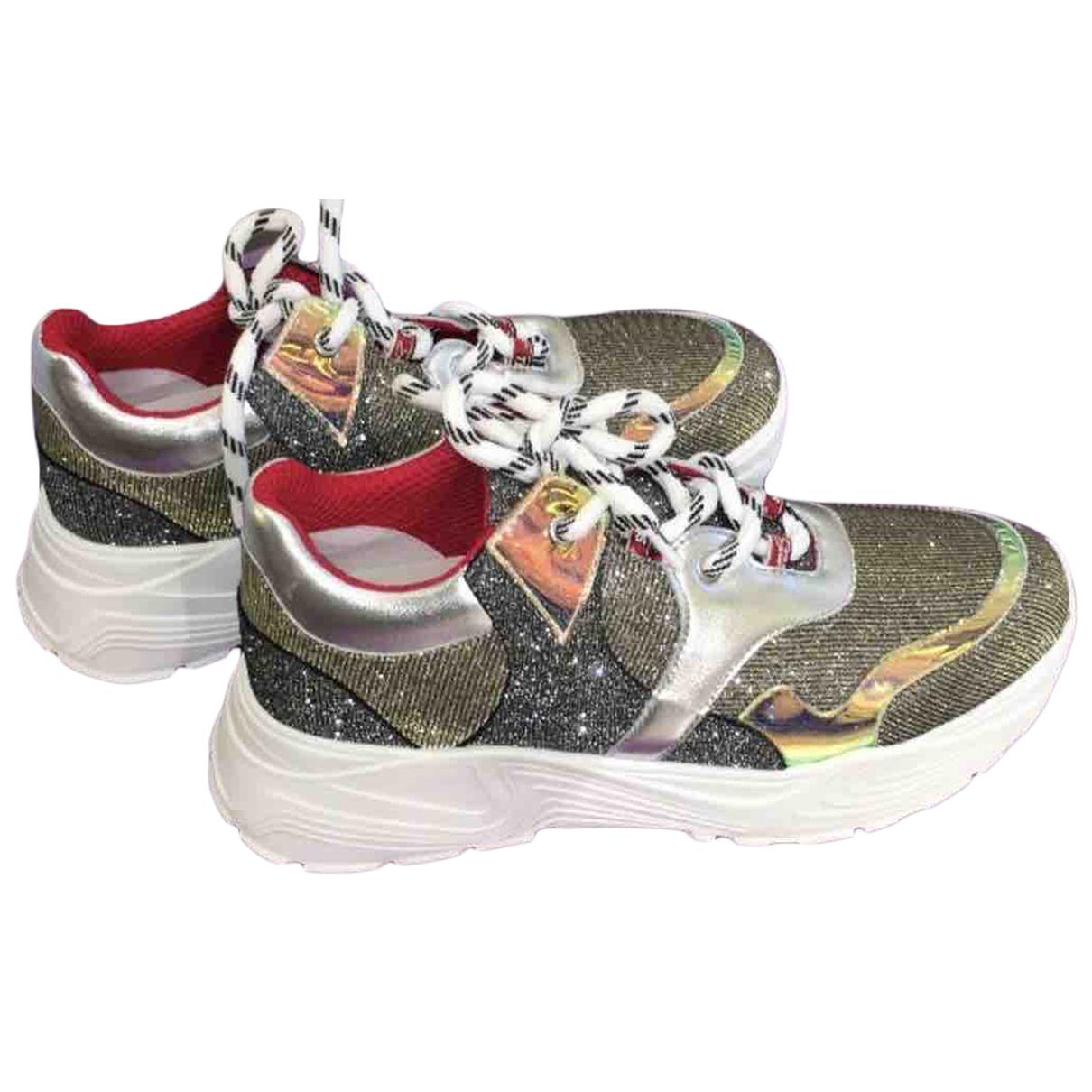 Tosca Blu \N Sneakers in  Bunt Leinen