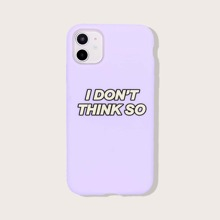 1pc Letter Graphic iPhone Case