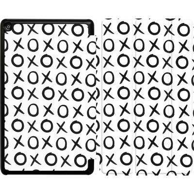 Amazon Fire HD 8 (2018) Tablet Smart Case - Love XO White von Amy Sia