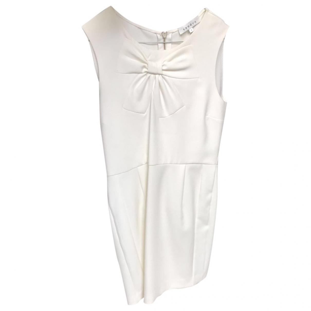 Sandro \N White Cotton dress for Women 1 0-5