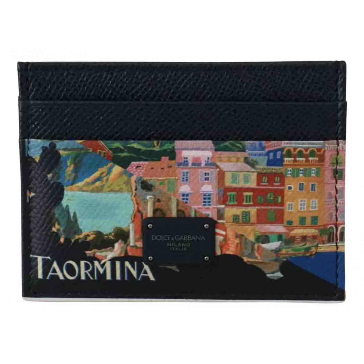 Dolce & Gabbana - Petite maroquinerie   pour homme en cuir - multicolore