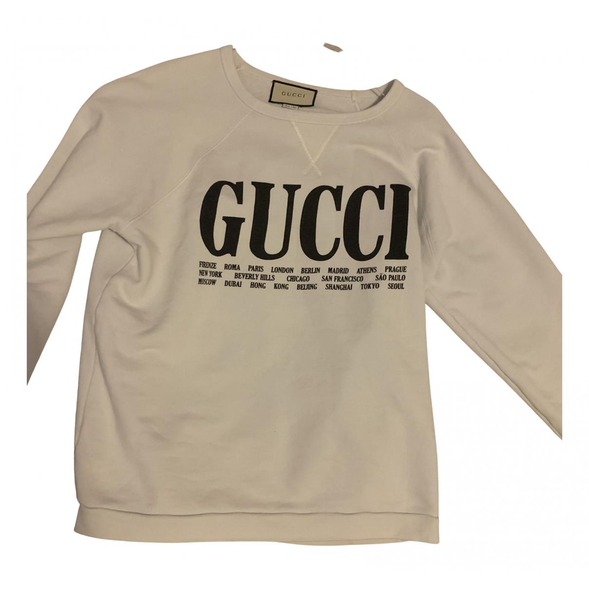 Gucci - Pulls.Gilets.Sweats   pour homme en coton - blanc