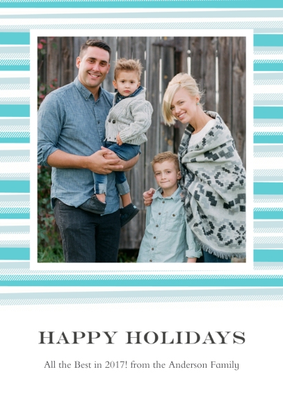 Holiday Photo Cards Mail-for-Me Premium 5x7 Folded Card , Card & Stationery -Blanket Border Happy Holidays