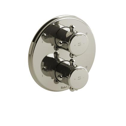 Georgian TGN88PN 4-Way No Share Thermostatic/Pressure Balance Coaxial Valve Trim with Lever Handle  in Polished