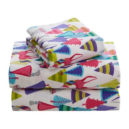 Turkish Cotton Flannel Sheet Set, One Size , Pink