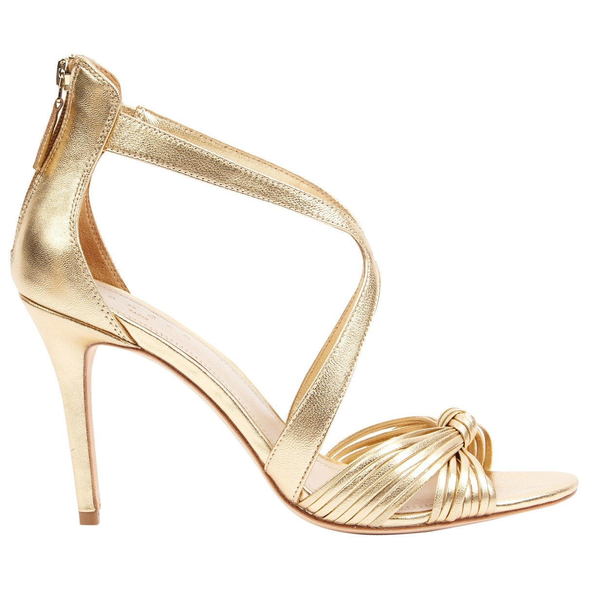Sandro \N Gold Leather Sandals for Women 40 EU
