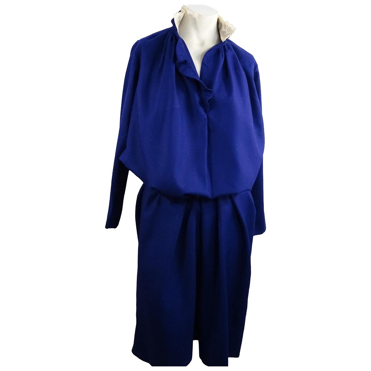 Gerard Darel \N Kleid in  Marine Wolle