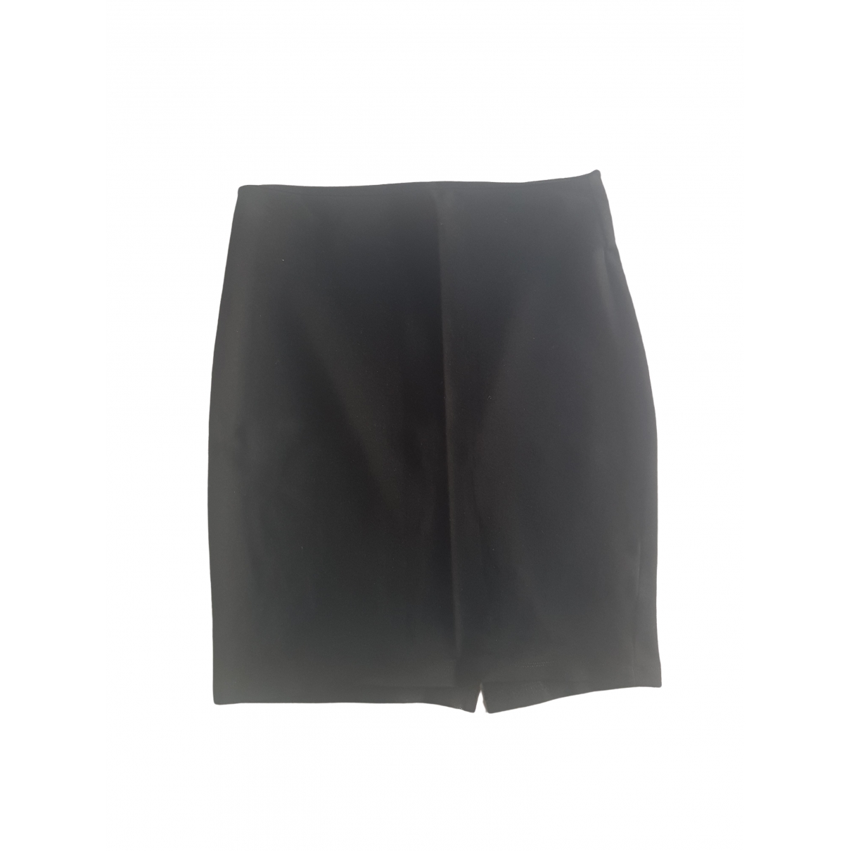 Zara - Jupe   pour femme en coton - elasthane - noir