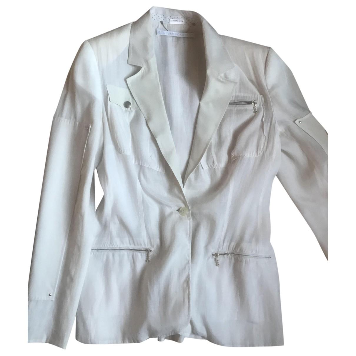Stella Mccartney - Veste   pour femme en soie - rose