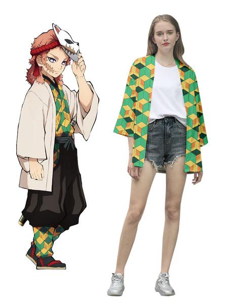 Milanoo Demon Slayer: Kimetsu No Yaiba Sabito Kimono Only Anime Cosplay Costume