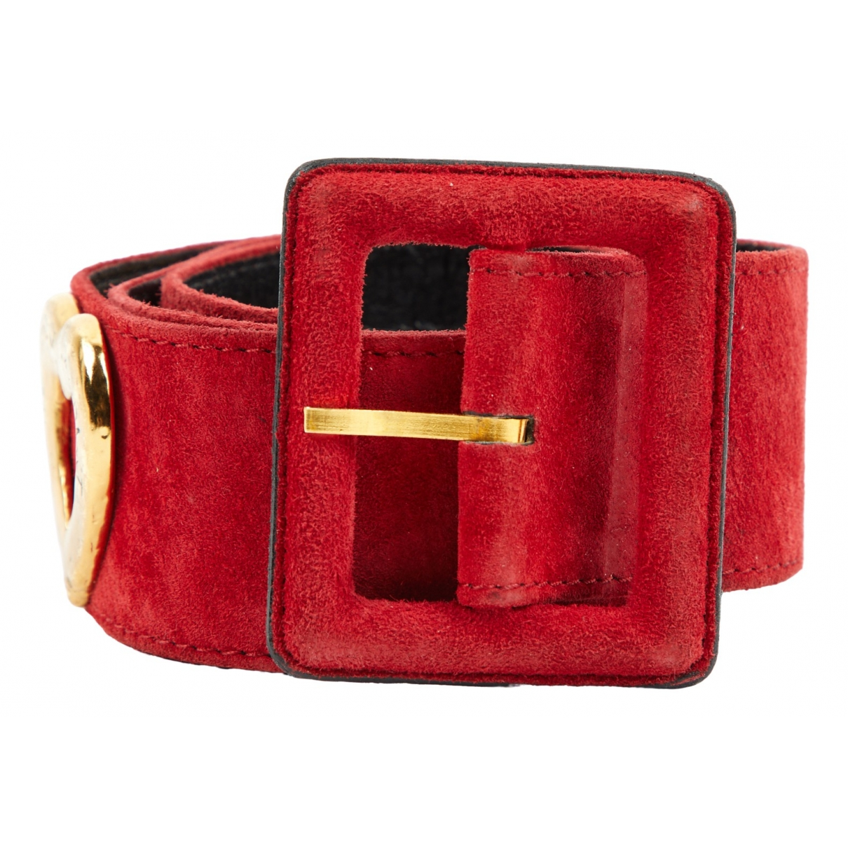 Yves Saint Laurent \N Red Suede belt for Women 80 cm
