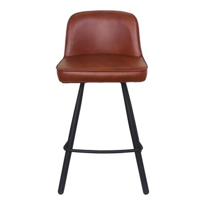 Eisley Collection UU-1016-03 Counter Height Stool with Metal legs in Brown