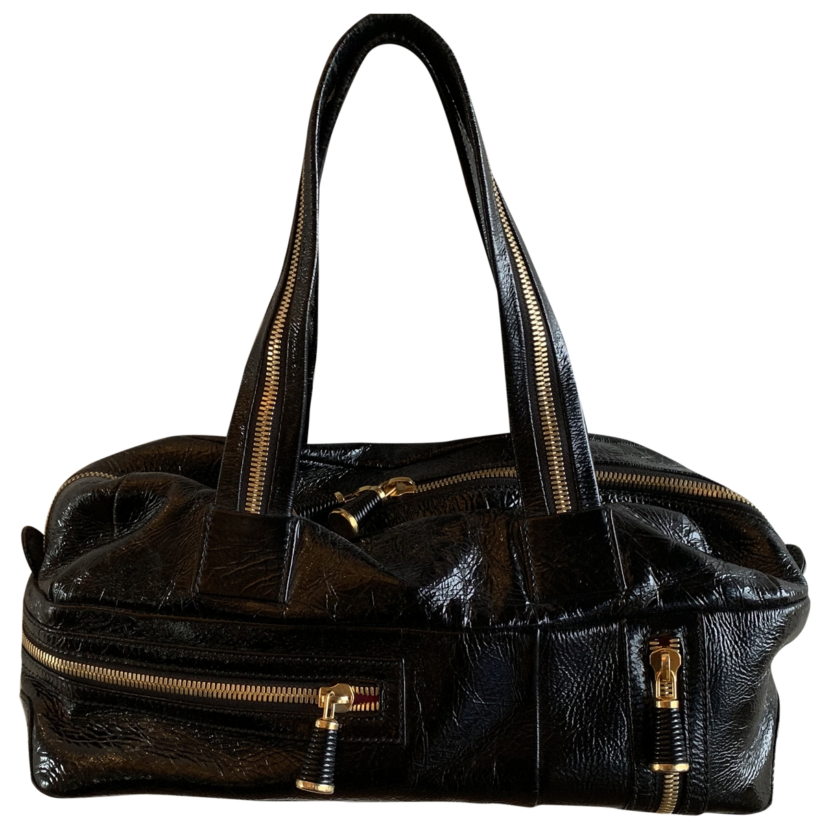 Sergio Rossi \N Black Leather handbag for Women \N