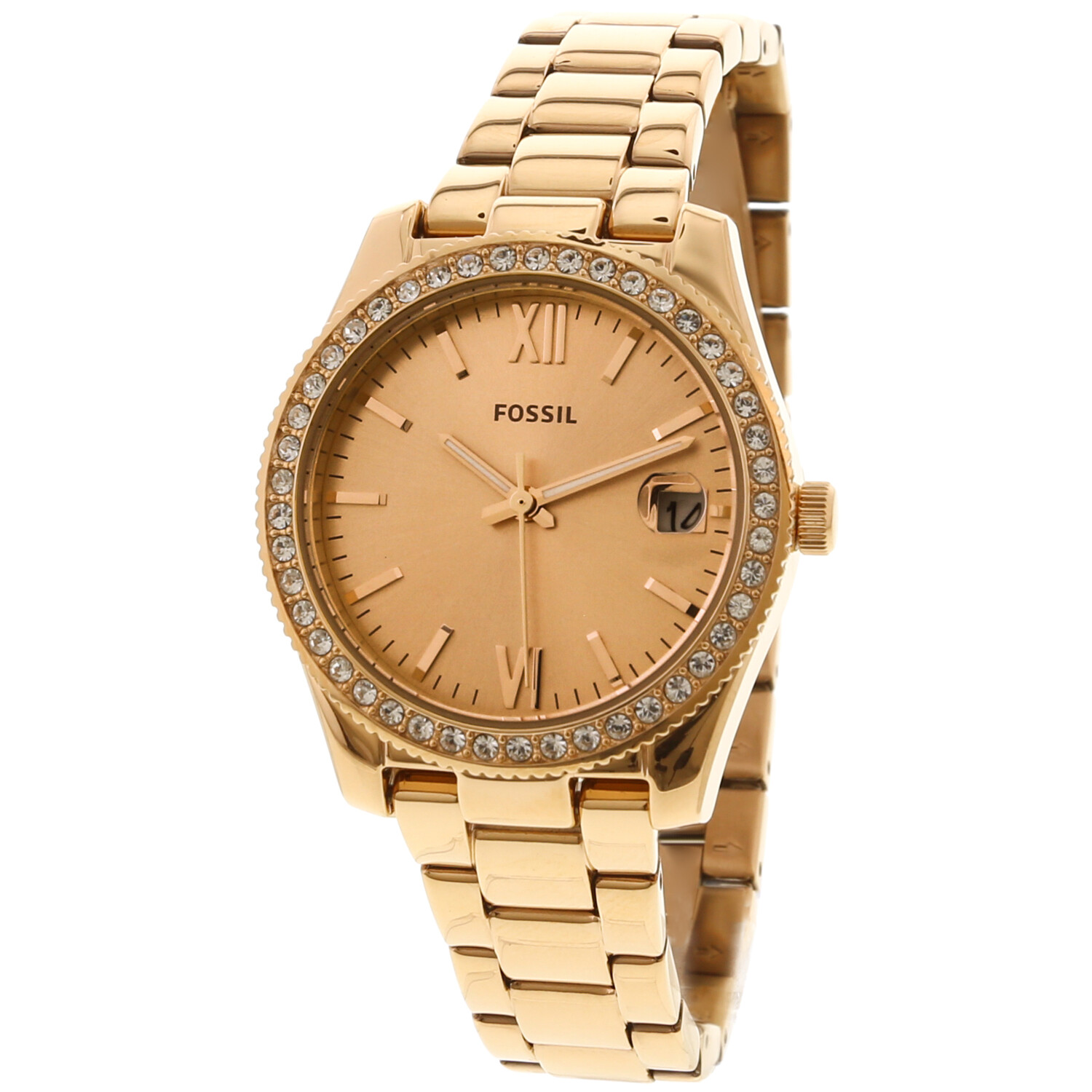 Fossil Womens Tailor ES4318 Rose-Gold Stainless-Steel Japanese Quartz Fashion Watch