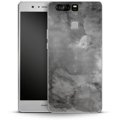 Huawei P9 Silikon Handyhuelle - Black Watercolor von Emanuela Carratoni
