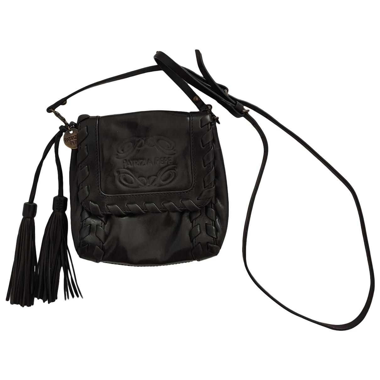 Patrizia Pepe - Pochette   pour femme en cuir - noir