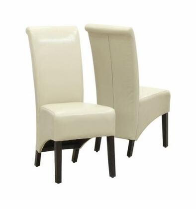 I 1777TP Dining Chair Set of 2pcs Leather Look Upholstered  Back Height  Armless  in
