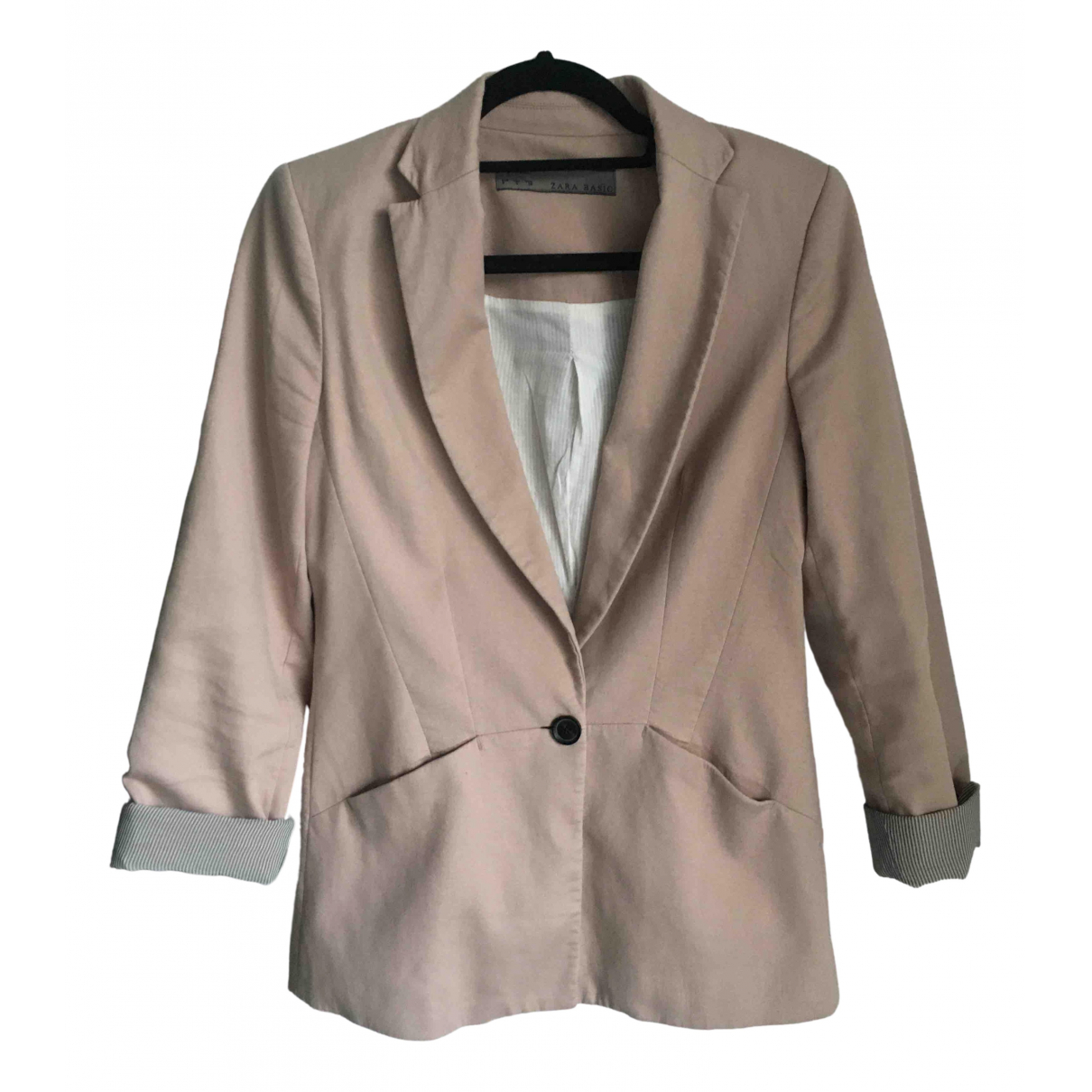 Zara \N Pink Cotton jacket for Women S International