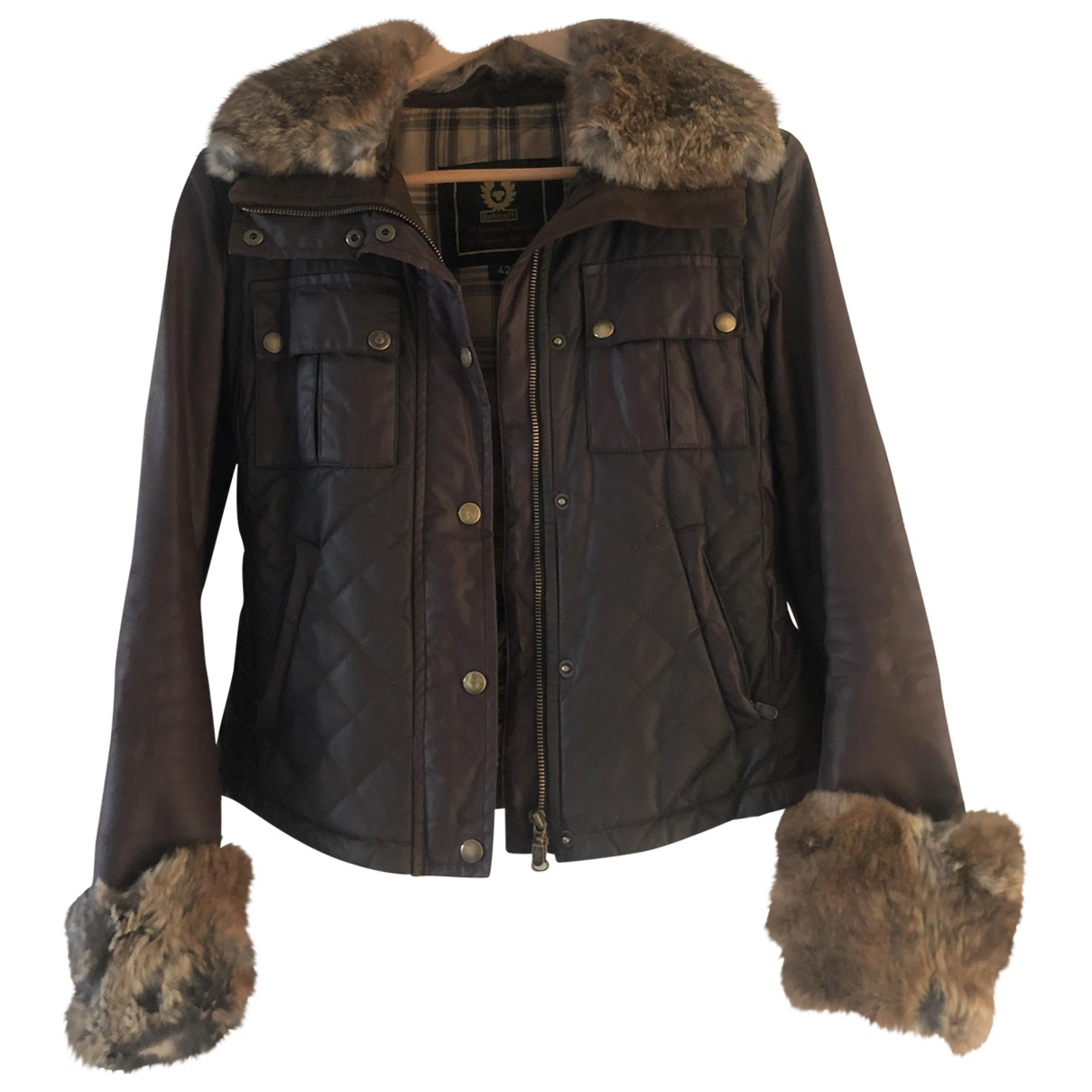 Belstaff \N Brown Rabbit coat for Women 42 IT