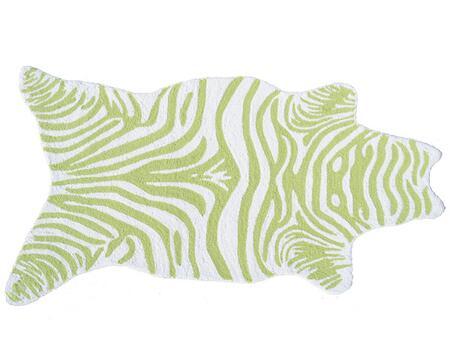 25617B 2.8 x 4.8 ft. Mini Zebra Handmade Rug  in Lime and