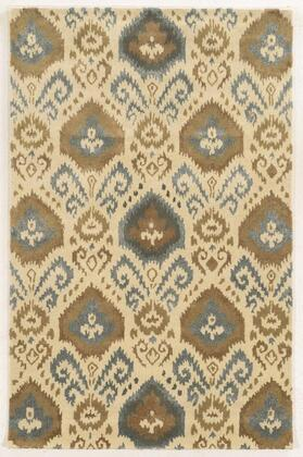 GSAGV862800370810 Gillespie Avenue GV8628-8' x 10' Hand-Tufted Premium blended wool with Viscose accents Rug in Ivory  Rectangle