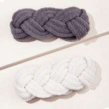 2pcs Plain Knitted Headband