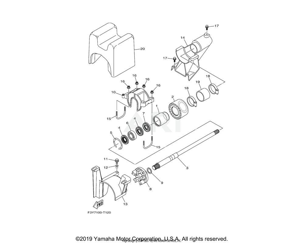 Yamaha OEM 6GA-G5593-00-00 FLANGE, COUPLING 1