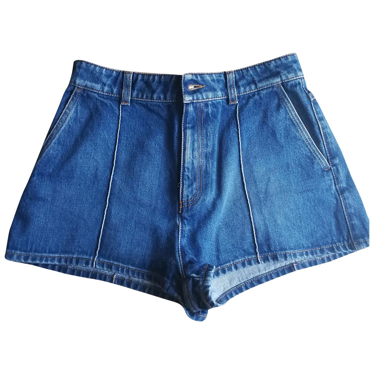 Alexander Mcqueen \N Blue Denim - Jeans Shorts for Women 38 FR