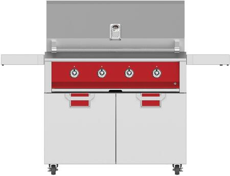 2-Piece Outdoor Kitchen Appliance Package with 42 EMB42LPRD Liquid Propane Grill and 42 ECD42RD Grill Cart in