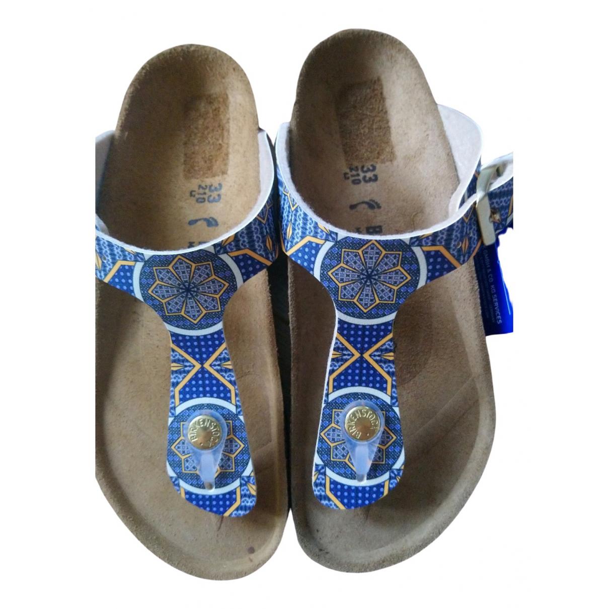 Birkenstock \N Sandalen in  Blau Leder