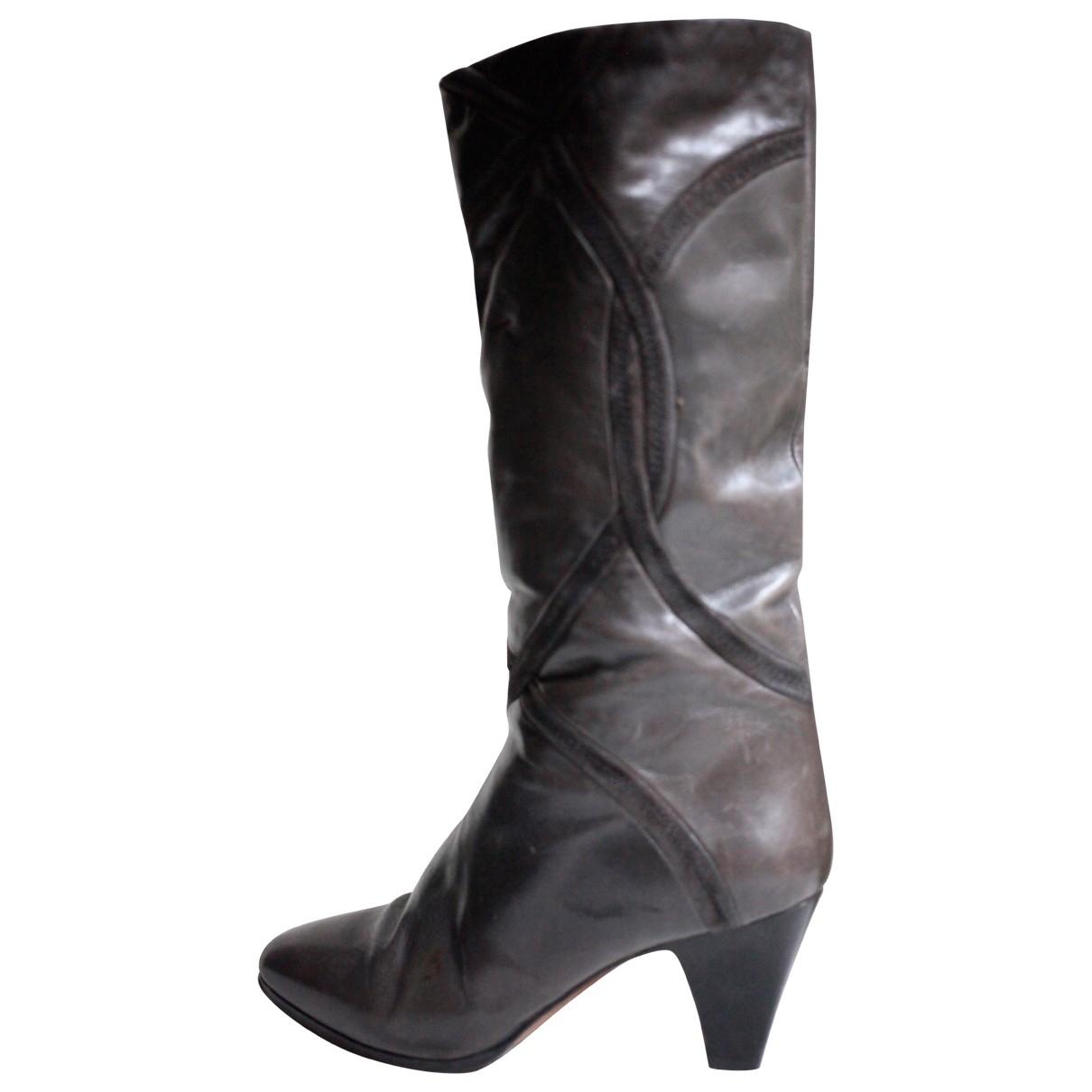 Bally - Bottes   pour femme en cuir - gris