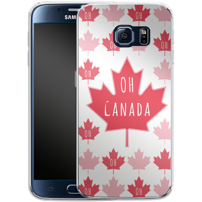 Samsung Galaxy S6 Silikon Handyhuelle - Oh Canada von caseable Designs