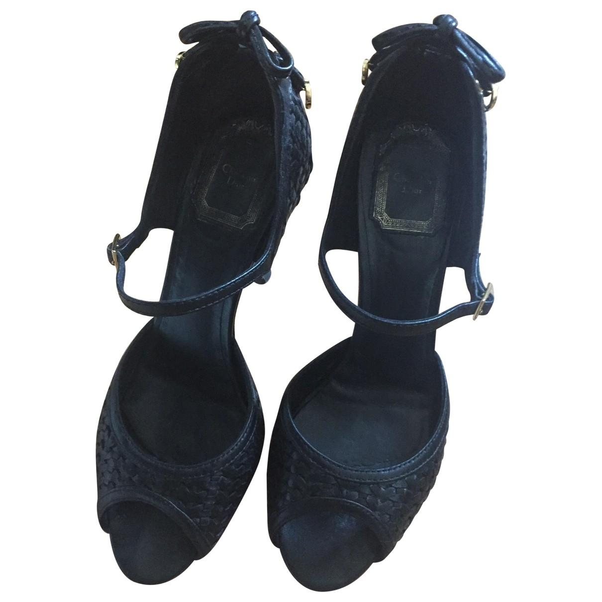 Dior \N Black Leather Sandals for Women 37 EU