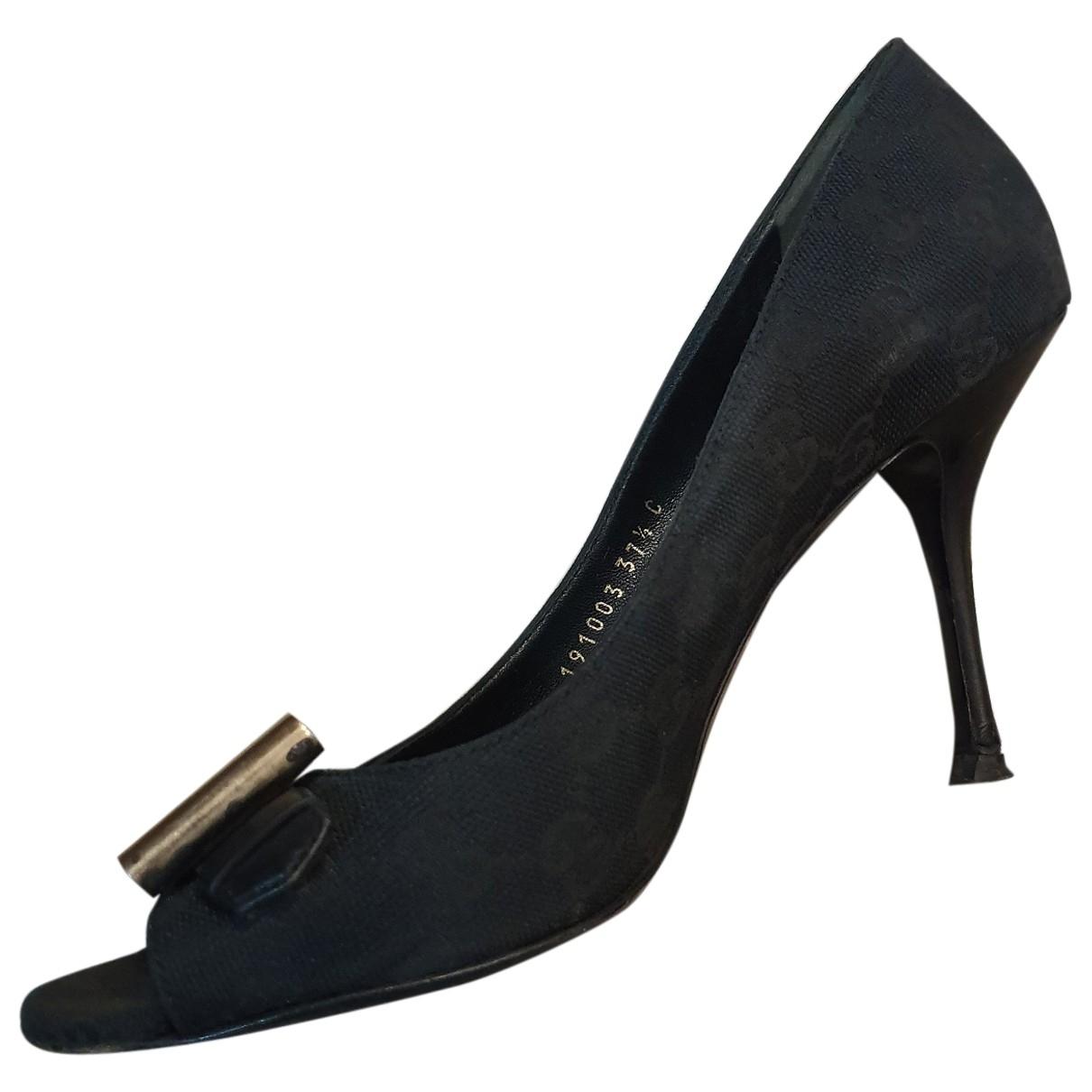 Gucci - Escarpins   pour femme en toile - noir