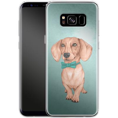 Samsung Galaxy S8 Silikon Handyhuelle - Dachshund the Wiener Dog von Barruf