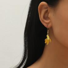 Banana Design Drop Earrings