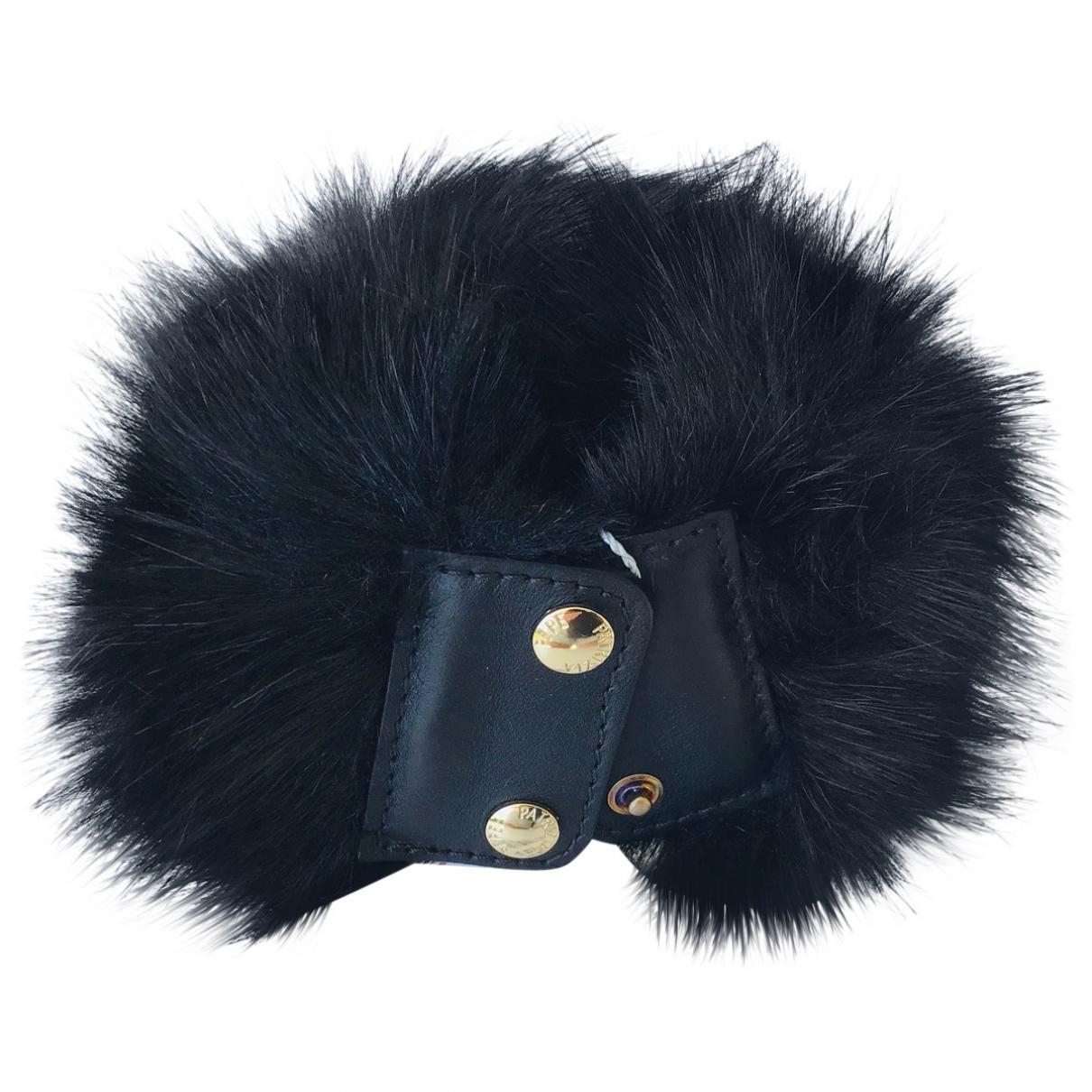 Patrizia Pepe - Bracelet   pour femme en fourrure synthetique - noir