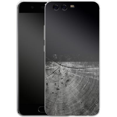 Huawei P10 Silikon Handyhuelle - Wood Grain Slice von caseable Designs