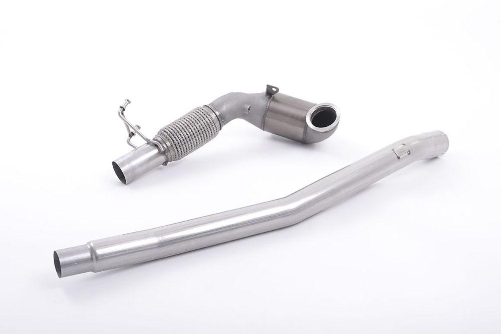 Milltek SSXVW349 Large Bore Downpipe w/ Hi-Flow Sports Catalyst (For OE Cat-Back) Audi A3 2.0 TFSI quattro Sedan 8V (US-only) 2014-2021