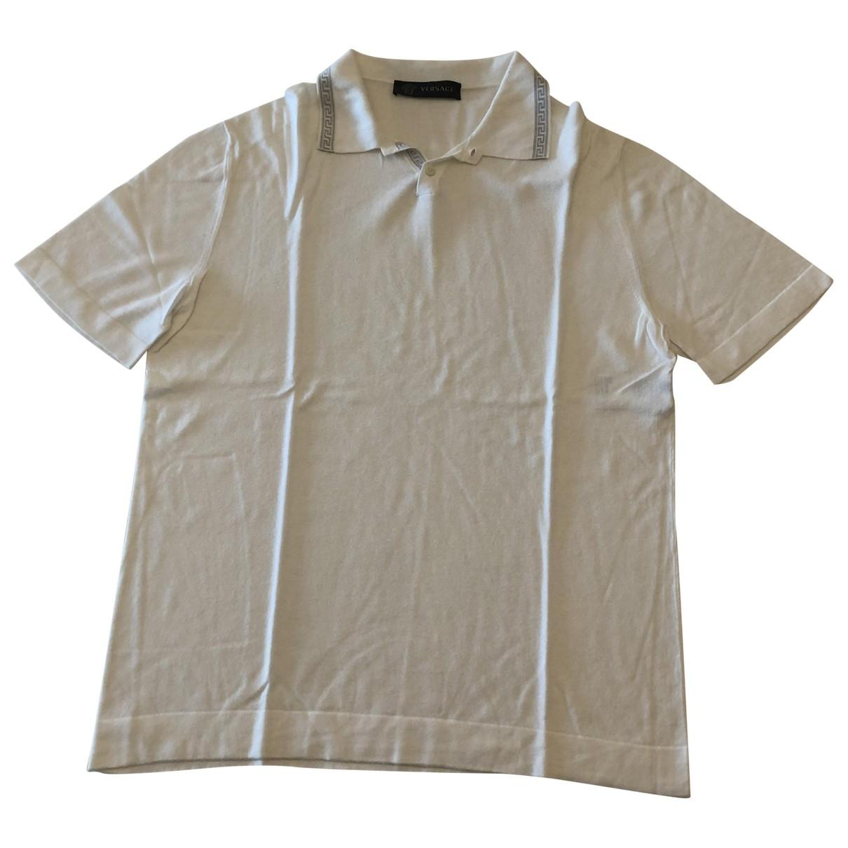 Versace - Polos   pour homme - blanc