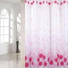 Duschvorhang mit Blumen Muster