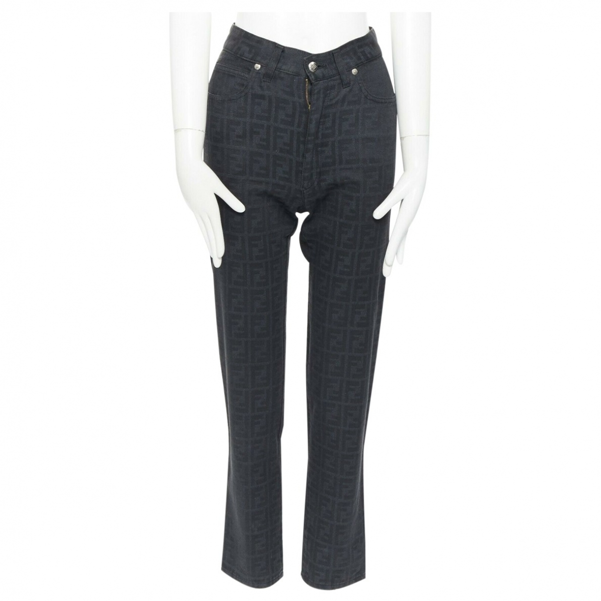 Fendi \N Black Cotton Jeans for Women 41 FR