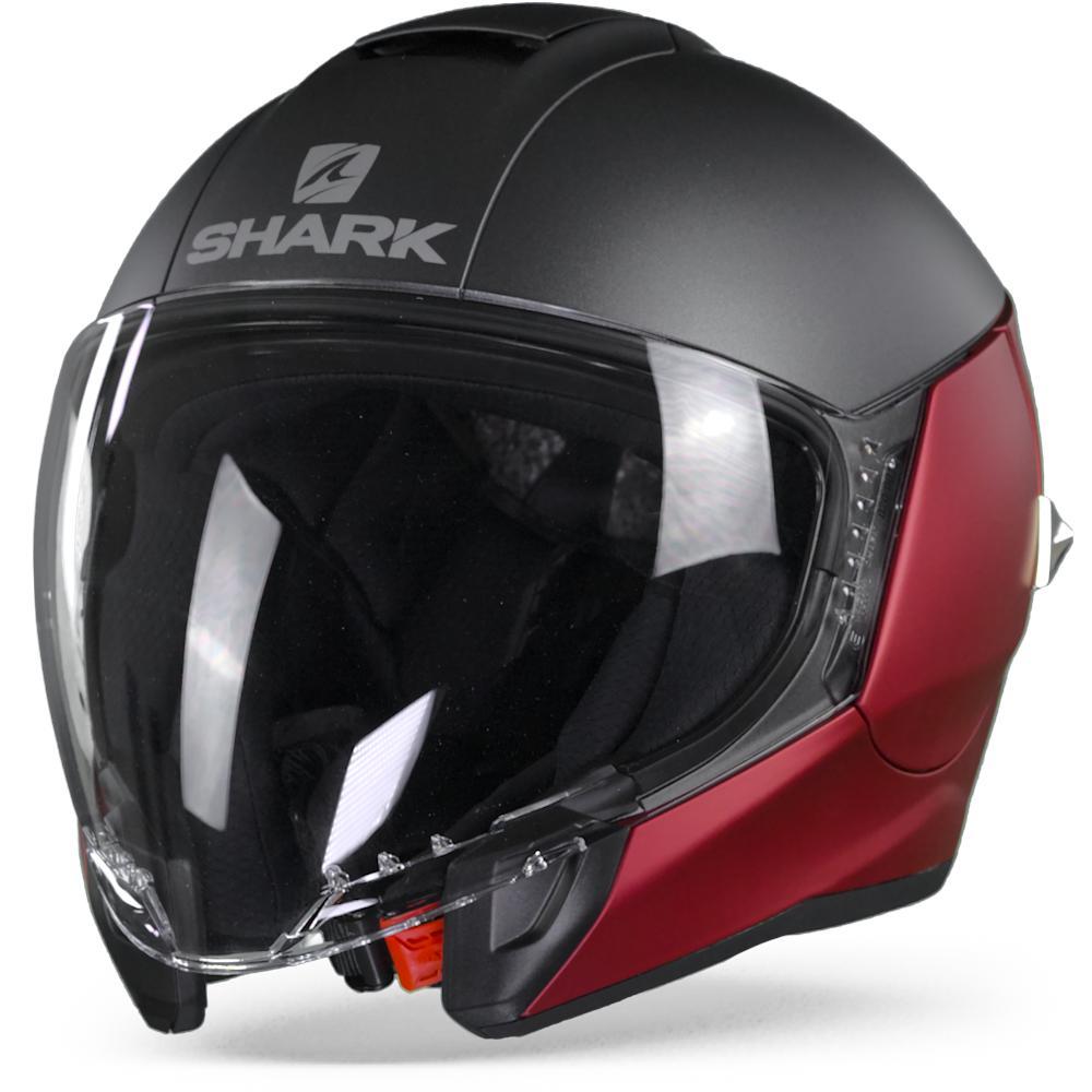 casco moto jet City cruiser negro mate XL Shark