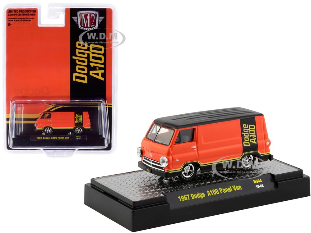 1967 Dodge A100 Panel Van Orange and Black